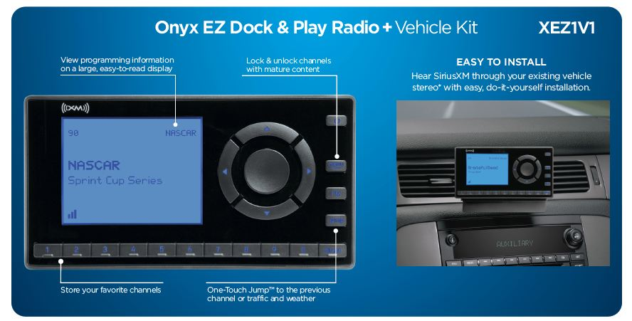 Xm Radio Weather Channel >> Siriusxm Onyx Ez Product Review Satellite Radio Superstore