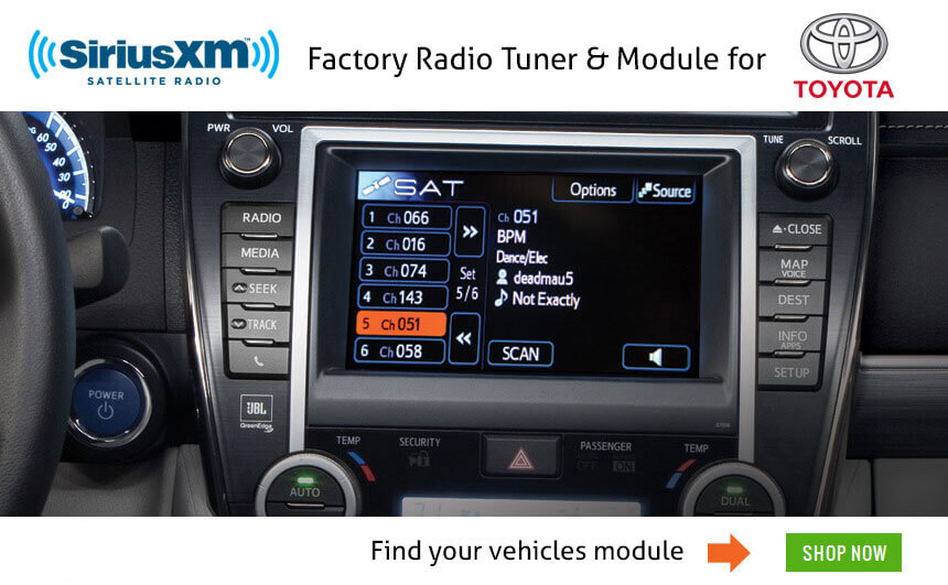 Get Siriusxm Radio On Your Toyota Factory Installed Stereo