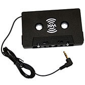 Cassette tape adapter for satellite radio receivers